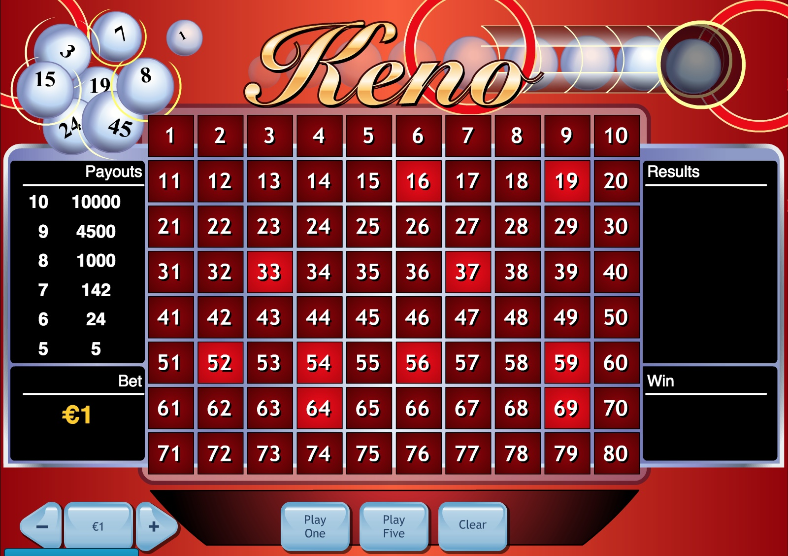Roulette payout 104623