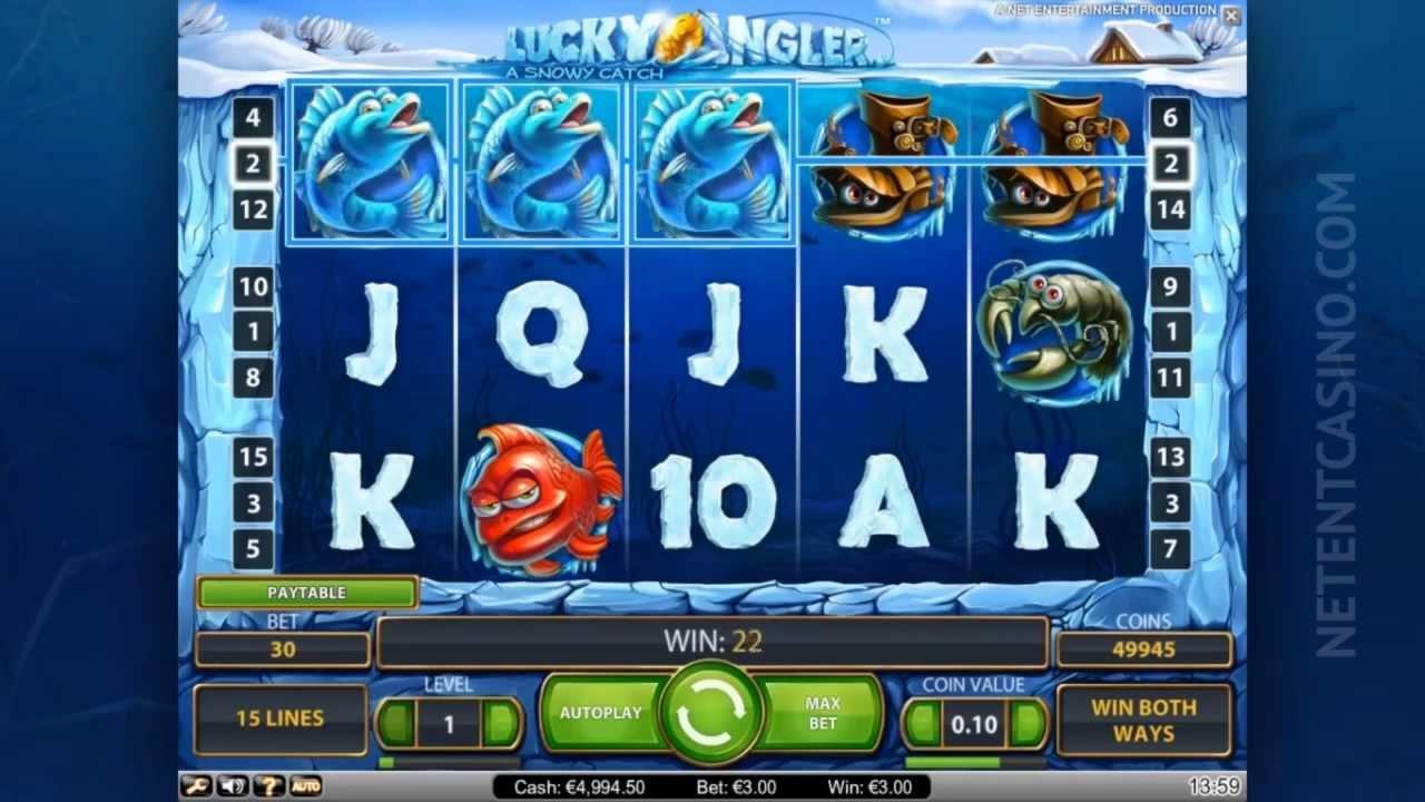NetEnt online Lucky Angler 142399