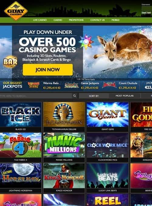 Casino utan inloggning Gday 32717